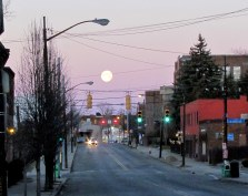 Moon over Penn Avenue