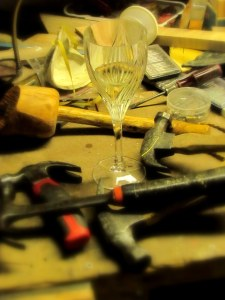 Wineglass and Hammers; photo by GAC