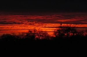 Sunrise over Lackland Air Force Base, San Antonio, Texas; photo by GAC