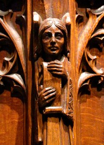 Detail from the Pulpit in Heinz Chapel, University of Pittsburgh; photo by GAC