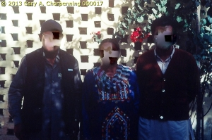 A South Asian Pastor and his Family (identities obscured); photo by GAC