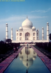 The Taj Mahal -- a magnificent tomb; photo by GAC