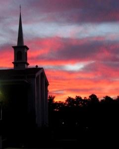 Venice Presbyterian Church at sunrise; photo by GAC