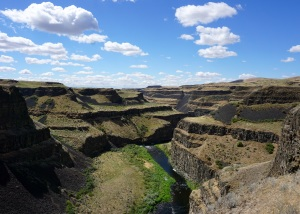 The Canyon Below Palouse Falls in Southwestern Washington State