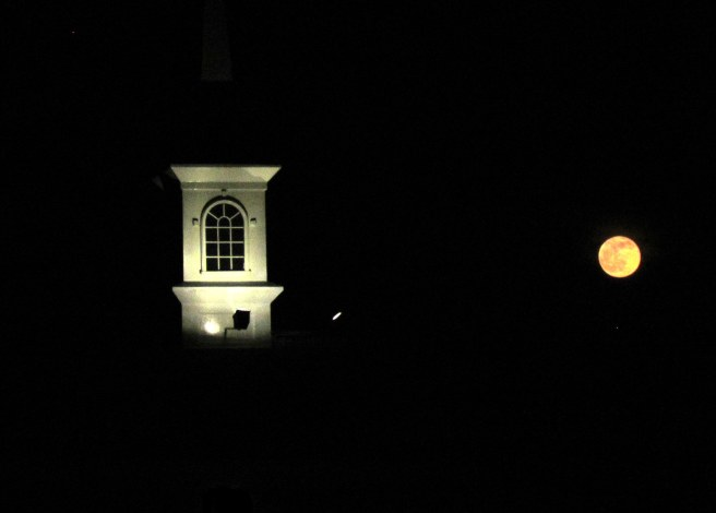 Moonrise over Venice Church
