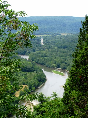 The Chemung River from Tanglewood Nature Center overlook, Elmira, NY